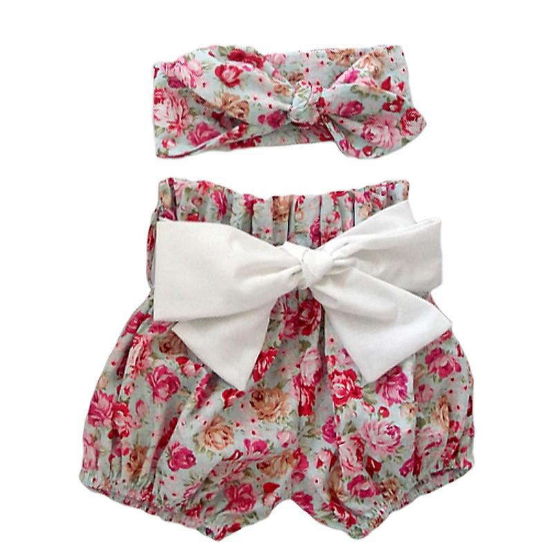 HTB10iIxJVXXXXbkXFXXq6xXFXXXi - 2015New arrival baby toddler summer boutiques baby girls vintage floral ruffle neck romper cloth with bow knot shorts headband