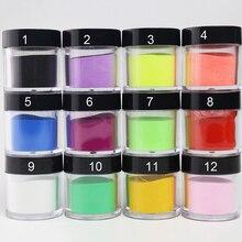 12 Colors Nail Powder Glitter 10ml/box Luminous Nail Chrome Powder Decorations Paint Art Acrylic Shinning Dust Glitter Powder#FA цена