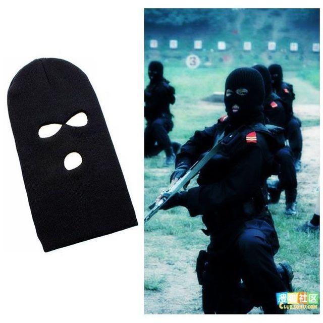 3 Hole Knitted Face Mask Balaclava Hat Ski Army Stocking Winter Cap Beanie  Hood 7e74bc74d94a