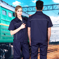 SET OF COAT+ PANTS Summer short sleeve work wear set male outdoor short sleeve uniform