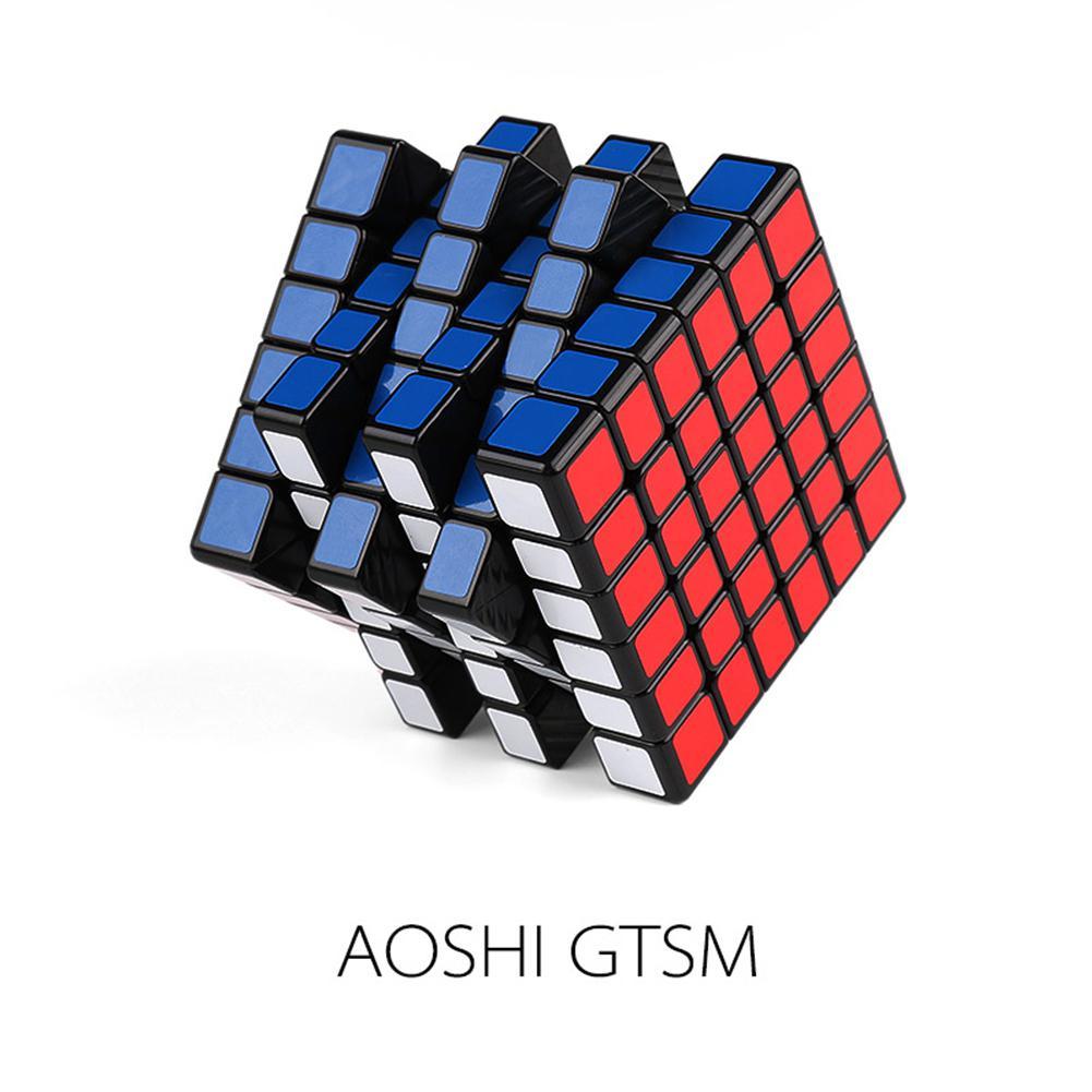 LeadingStar MOYU AOSHI GTS M 6X6 Cube Magnétique Magic Speed Cube Autocollant Professionnel Puzzle Cube Jouets pour les Enfants