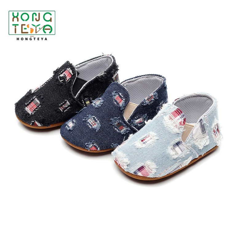 Baby Shoes Summer Canvas Baby Girl Shoes Newborn Denim Fabric Breathable Baby Toddler Shoes Hard Sole Baby Moccasins