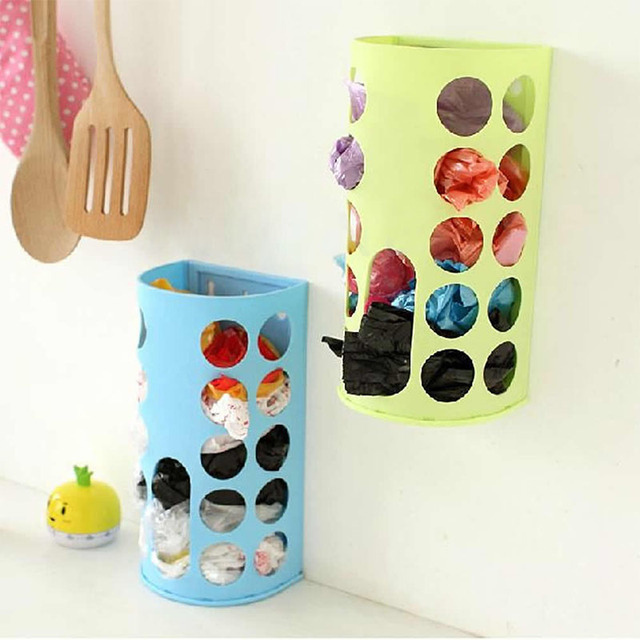 New Household Garbage Bags Storage Box Plastic Bag Collection Box Kitchen Cabinet Storage Rack Creative DIY Home Decor DV1306