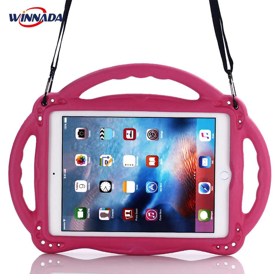 For ipad 2017 case 9.7 inch hand-held Shock Proof full body cover stand suspender case for ipad air / air 2 / pro 9.7 for kids silicone shock proof fall proof dust proof case w stand for ipad air 2 9 7 camouflage black