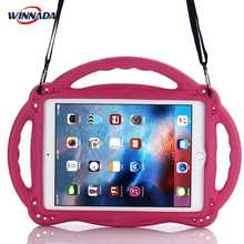 For ipad 2017 case 9.7 inch hand-held Shock Proof full body cover stand suspender case for ipad air / air 2 / pro 9.7 for kids