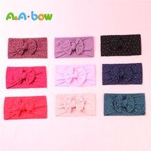 1pcs Bow Girl baby headband Solid Nylon for New Braid Baby Headwear Turban Fashion Gift Newborn Patry Hair Accessories