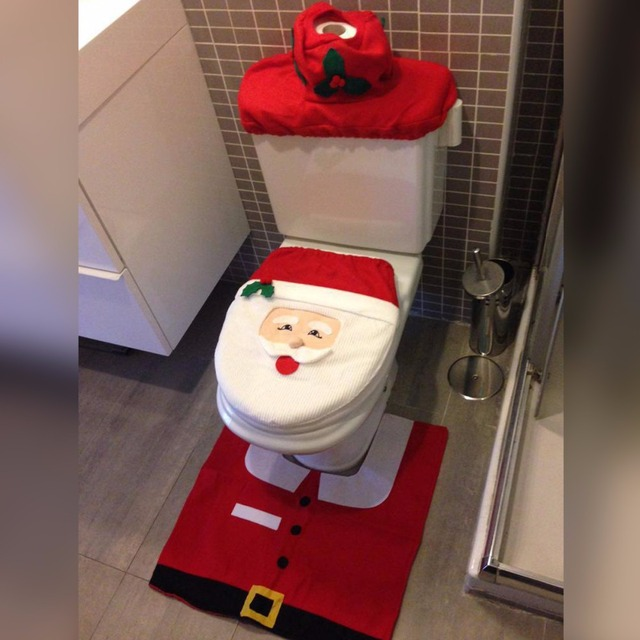 Best Pcs Creative Toilet Seat For Santa Claus Household Soft Set Cover Bathroom Wc With Unique Seats
