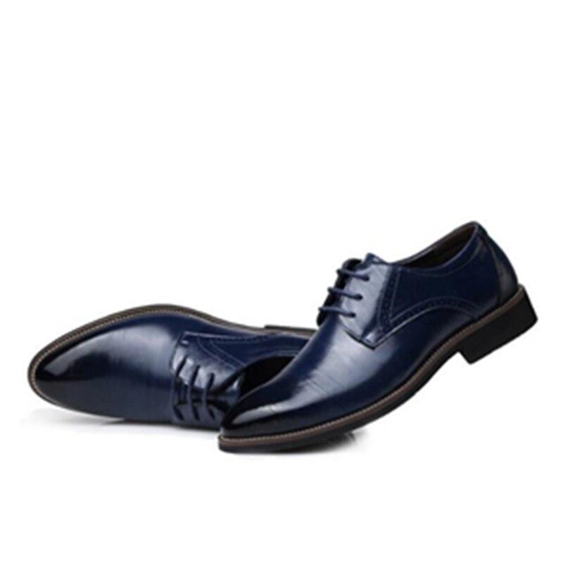 Hommes Bureau bleu D'affaires Richelieus Taille Dentelle Noir Robe Appartements Décontractée En up 061 Richelieu Grande Cuir orange Chaussures marron rvxf1r