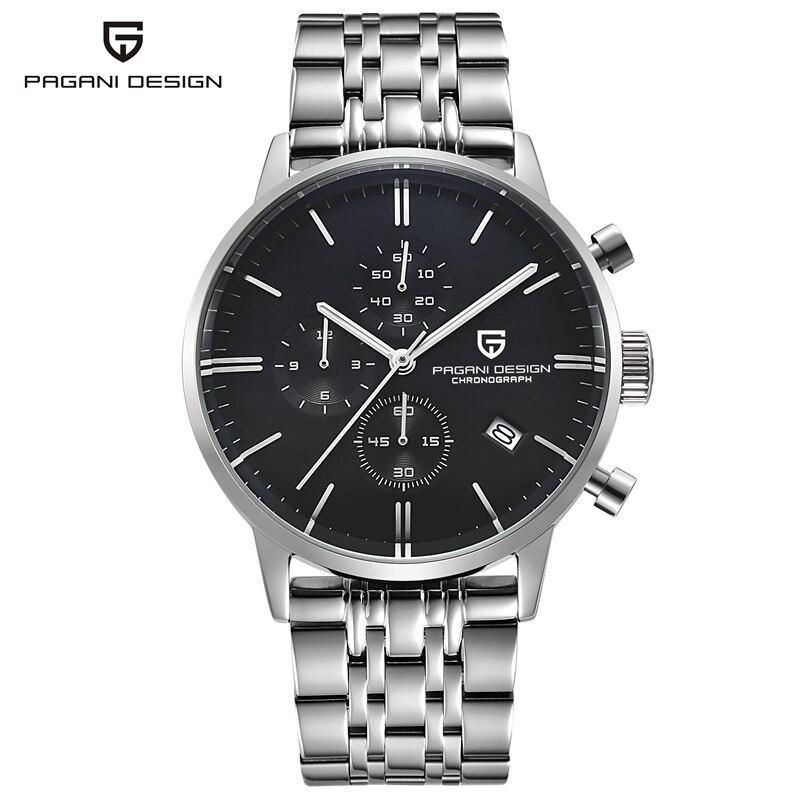PAGANI DESIGN étanche militaire chronographe Sport montre Top marque de luxe Quartz montre-bracelet horloge hommes calendrier heure 2019 noir