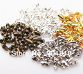 200pcs/lot Fits 1.5mm/1.2mm Gold/Silver/Black/ Antique Bronze/Copper Ball Chain Connectors/Clasps/Caps Jewelry Accessories F14