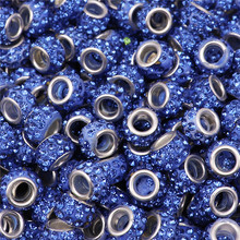50Pcs Lot Large Hole Crystal Glass Murano Spacer Beads Charms fit Pandora Bracelet Chain Necklace Earrings for Jewelry Making