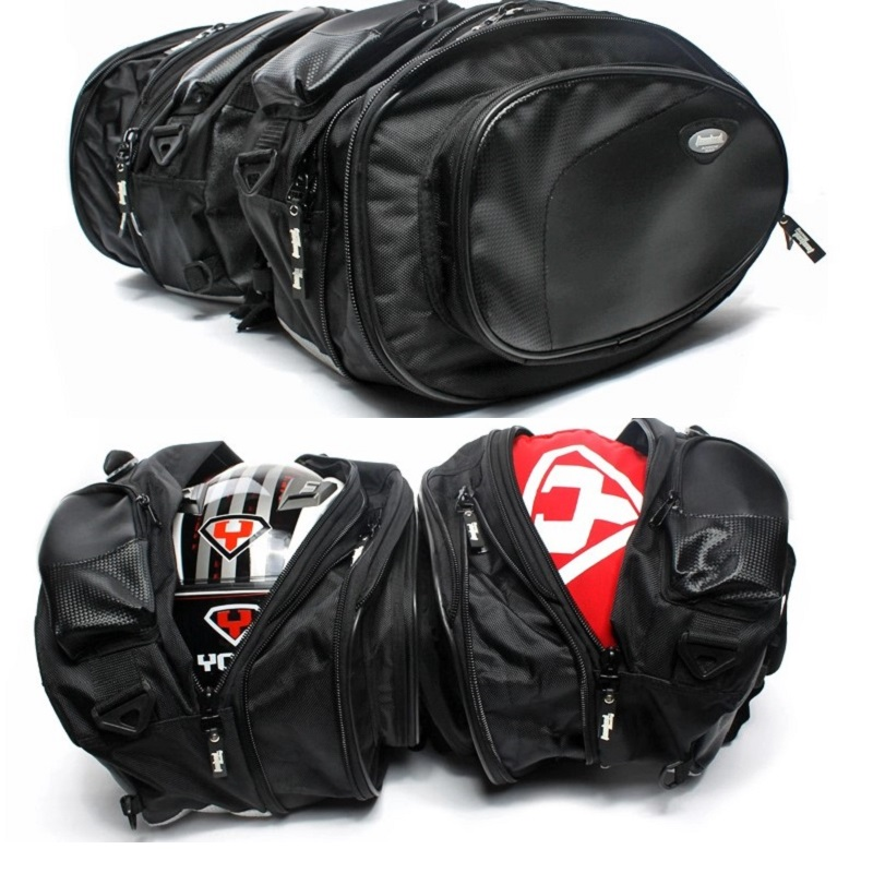TANKED RACING 2bags motorcycle saddle bag/travel bag/backpack Knight Rider equipment Oxford contraction Helmet bag