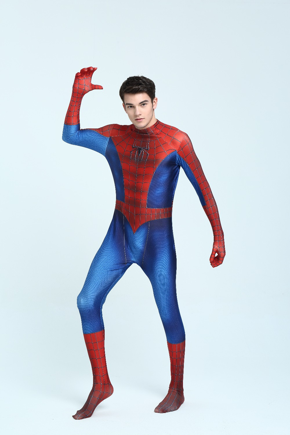 2017 NEW Spider man cosplay costume 3D printing Full body halloween props Spider-man Superhero Costume For Adult/Kids tights