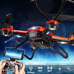 2.4G WIFI FPV Real Time Transmission Quad copter 2MP HD Camera Flying Quadcopter Professional Mini Drones RC Helicopter Seekers