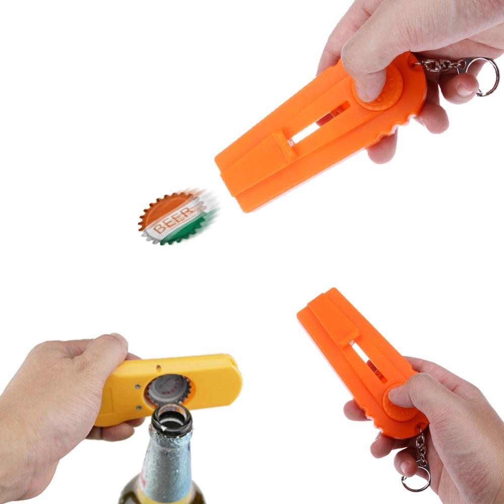 Flying Bottle Cap Gun Zappa Beer Opener Cap Launcher Shooter Cooking Gadget Kichen Accessories Dropshipping gadget