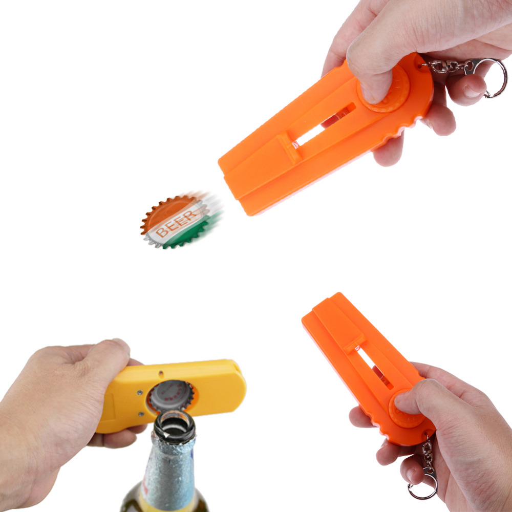 Flying Bottle Cap Gun Zappa Ølåpner Cap Launcher Shooter Cooking Gadget Kichen Tilbehør Dropshipping