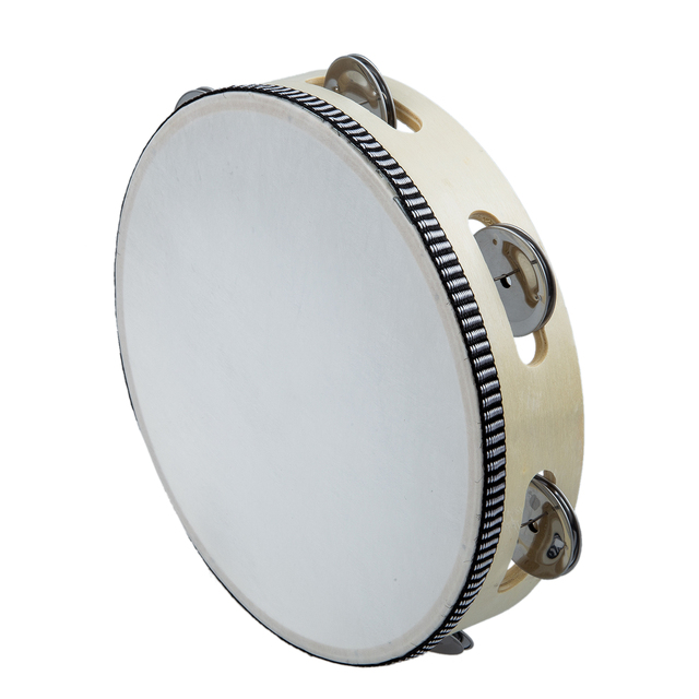 Tambourine Drum 8 Musical Tamborine Round Percussion Gift Drums For KTV Party