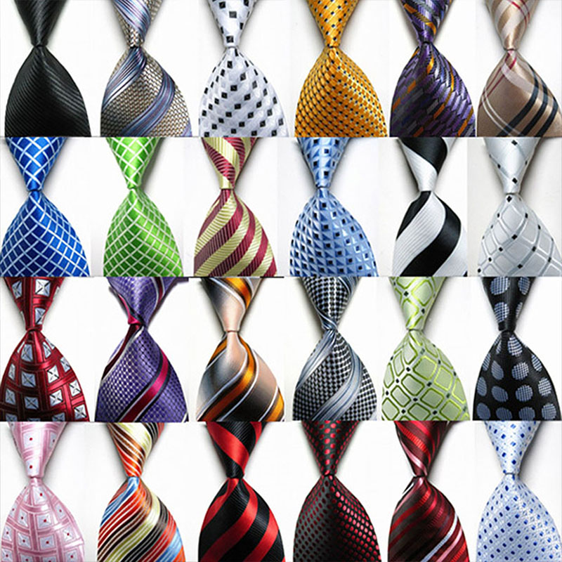 2019 Elegant Striped Men Neckties 10cm Wide Necktie For Men Shirt Accessories Solid Neck Tie Party Plaid Wedding Gravatas