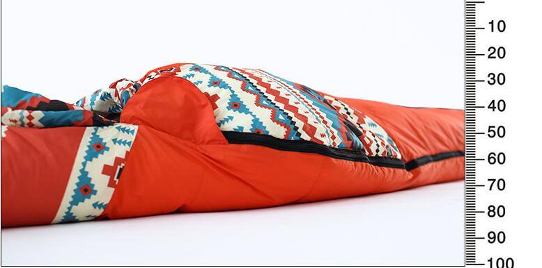 Adult Mummy Goose Down Sleeping lazy bag Outdoor Camping Spring Winter Waterproof Envelope Sleeping Bag Mattress Compression Bag