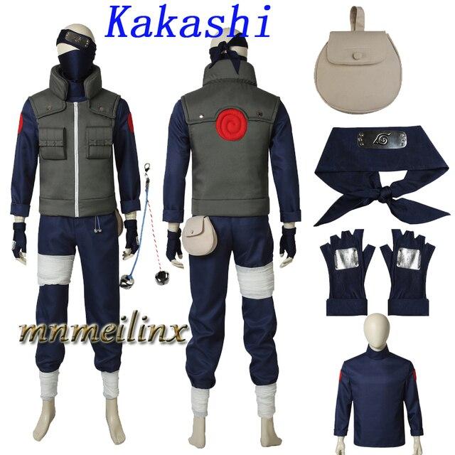 Di alta Qualità Popolare Anime Naruto Hatake Kakashi Cosplay Costume Set Completo Kakashi Vestito Vestito Personalizza