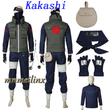 High Quality Popular Anime Naruto Hatake Kakashi Cosplay Costume Full Set Kakashi Suit Outfit Customize