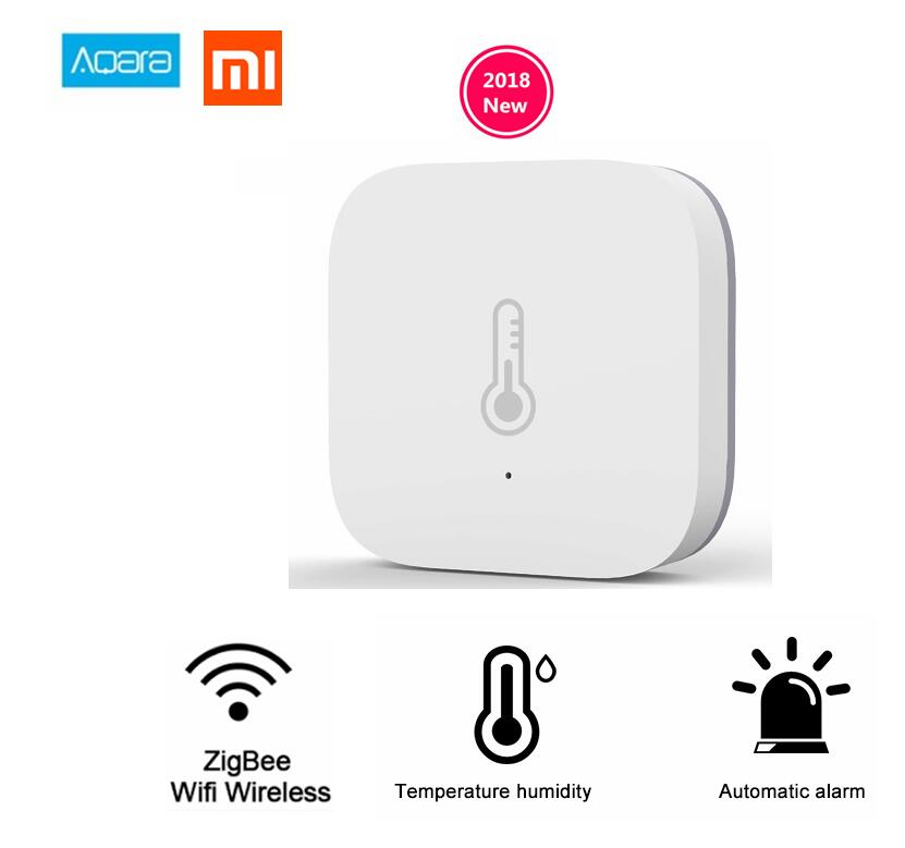 Xiaomi Mi Aqara Sensor de humedad temperatura ambiente presión de aire Mijia Smart Home Zigbee Control inalámbrico por Mihome Gateway
