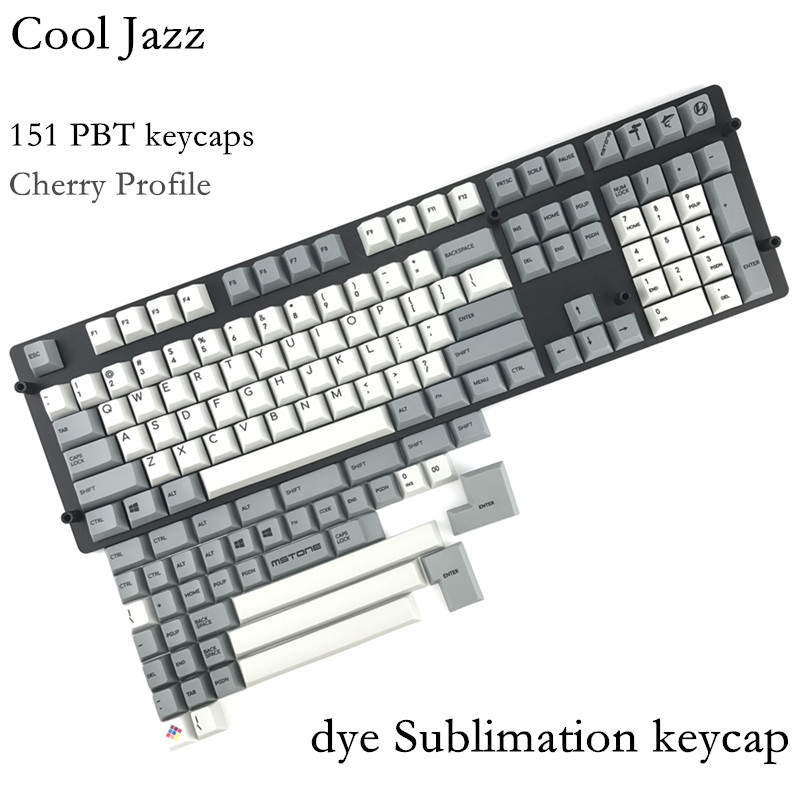Cool Jazz pbt Cherry mx Mechanical Keyboard keycaps 151 key dye subbed cherry profile 1.75shift iso keys For Corsair STRAFE K65 клавиатура corsair strafe rgb cherry mx red black usb ch 9000227 ru