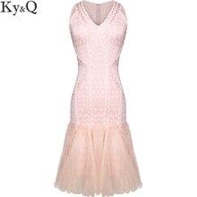 Высокое качество осень пикантные Розовые Трикотажные Платья для женщин 2017, женская обувь элегантные Лоскутная Глубокий V образным вырезом без рукавов Женская зимняя обувь платье vestidos