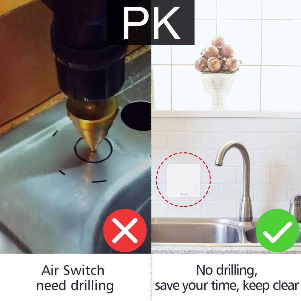Kitchen Food Waste Disposers Garbage Disposal Wireless Switch Remote Control Korea Plug 16A for 1HP Disposal No Drilling No Pipe
