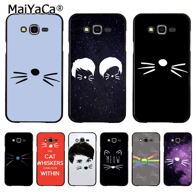 MaiYaCa DAN AND PHIL CAT WHISKERS Beautiful Phone Case Accessories For Samsung J5 J1 J3 J7