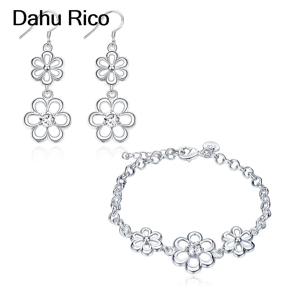 flower conjunto joyas taki seti k pop liverpool french polska mix taki Dahu Rico jewelry sets srebrne ...