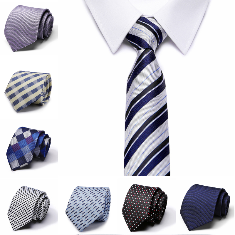 Drop Shipping Casual 7.5CM Slim Tie Men's Solid Color Narrow Skinny Necktie Formal Wedding Party Ties For Men Clothing Accessory