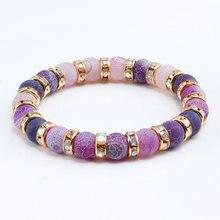 Классический красочный браслет для йоги в виде чакры с кристаллами