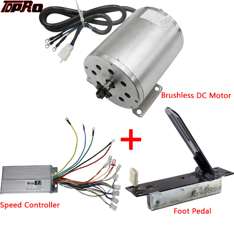 500W 24V Kit Motor Control Box w Reverse+RevThrottle f Electric Kart eATV DIY