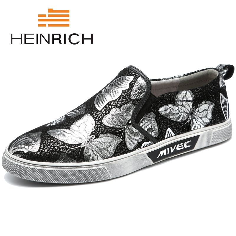 HEINRICH British Style Mens Soft Embroidery Slip On Shoes Men Casual Fashion Mens Shoes Luxury Loafers Drivings Board ShoesHEINRICH British Style Mens Soft Embroidery Slip On Shoes Men Casual Fashion Mens Shoes Luxury Loafers Drivings Board Shoes