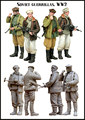 Scale Models 1/ 35 WWII soviet guerrillas include 2 soldiers   figure Historical WWII Resin Model Free Shipping