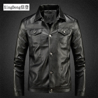 XingDeng royal albert china Motorcycle Leather Jackets Men Solid Casual 80s costumes Coat winter Clothing Bomber Jacket for Male