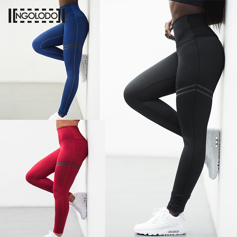 Women Sporting   Leggings   Clothing for female Fitness push up sexy black red blue Pants High Waist Leggin Elastic Workout Jeggings