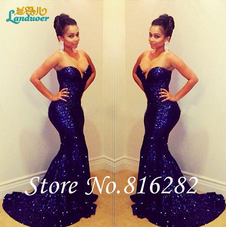 Dark Blue Prom Dress Promotion-Shop for Promotional Dark Blue Prom ...