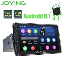 Autoradio JOYING 4 GB + 64 GB 1din 7 »GPS Android 8.1 avec caméra arrière gratuite audio stéréo Octa core HD unité de tête auto avec carplay