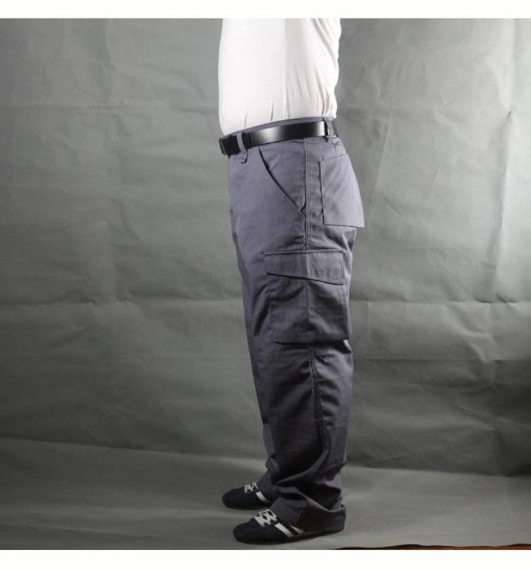 Working pants men multi pockets work cargo pants large size loose style men\'s labor trousers wear-resistance welding repairman (9)