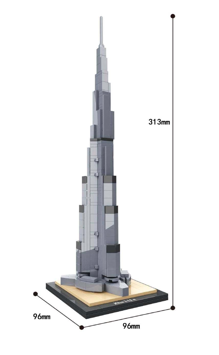 Replika Set Arhitektura Burj Khalifa 21031 Građevinski blok MOC - Izgradnja igračke - Foto 2