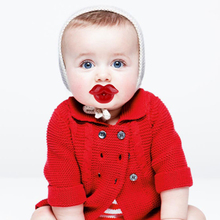 1Pc New Baby Pacifier Red Kiss Lips