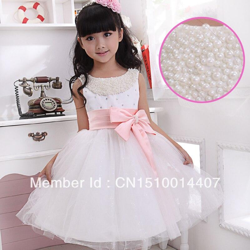 child formal dress flower girl wedding dress female child costume ...