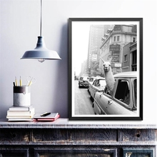 NOOG Llama in a taxi on Times Square Canvas Print and Poster Vintage llama Print New York City Photo Picture Wall Art Home Decor between home декоративная подушка new york times beige