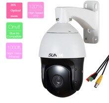 601-AHD20X similar to SDI & TVI &CVI Analog HD 1.0MP 2.0MP AHD High Speed Dome Camera with BNC or RS485 PTZ via Coaxial&485