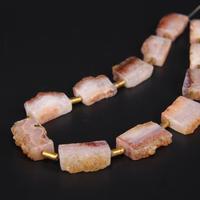 15 5 Strand Natural Citrines Quartz Druzy Freeform Slab Nugget Beads Roug Yellow Crystal Drusy Geode