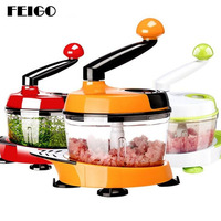 FEIGO 1Pc 1500ml Multifunctional Home Manual Meat Grinder For Mincing Meat/Vegetable/Spice Hand cranked Meat Mincer Sausage F601