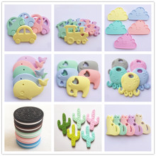 Chenkai 5PCS Silicone Teether Newborn Baby Pacifier Dummy Chewing Nursing DIY Sensory clips Toy Gift Accessories