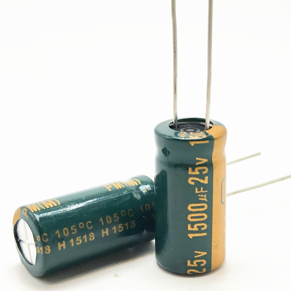 25V 1500UF 10*20 High Frequency Low Impedance Aluminum Electrolytic Capacitor 1500uf 25v